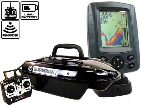 Sight Tackle Superion I Baitboat with Sight Tackle SK500 Color Fishfinder