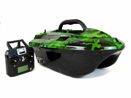 Skarp S60 Camou Baitboat with Lead Battery