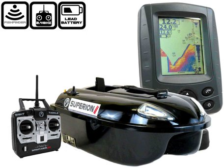 Sight Tackle Superion II Baitboat with Sight Tackle SK500 Color Fishfinder