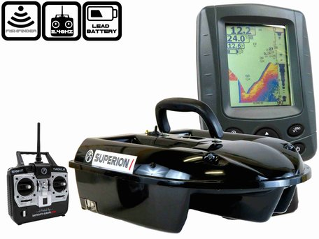 Sight Tackle Superion I Baitboat with Sight Tackle SK500 Color Fishfinder