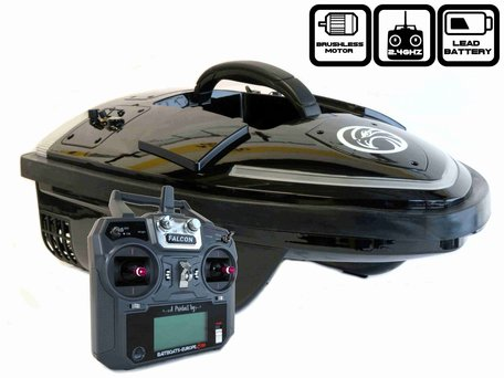 Sight Tackle Falcon Black Baitboat with Lead Batteries