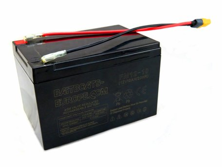 Baitboats-Europe.Com Bait Boat Lead Battery 12volt 10ah