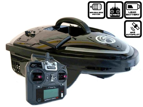 Sight Tackle Falcon Baitboat with GPS Autopilot and Lead Batteries
