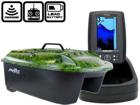 Anatec Maxboat with Toslon TF-500 Color Fishfinder