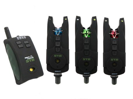 Sight Tackle STB Bite Alarms & Receiver 3+1