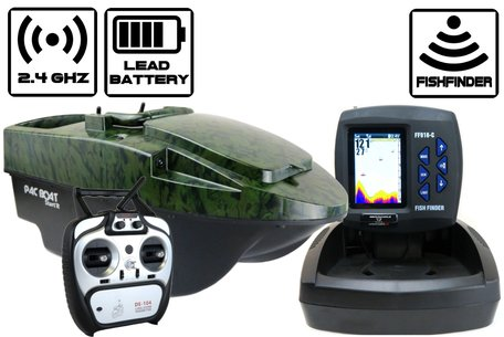Anatec Pacboat Start'R Evo Camo Ivy with Sight Tackle Color Fishfinder