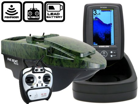 Anatec Pacboat Start'R Evo Camo Ivy with Toslon TF-500 Color Fishfinder