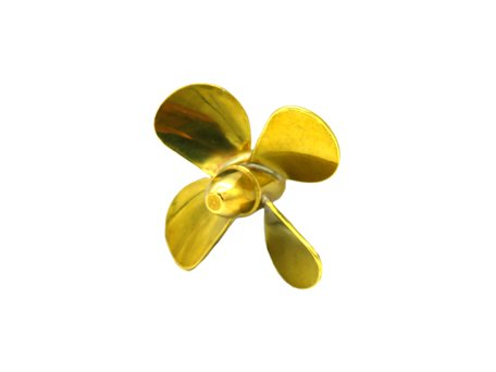 Brass 4 Bladed Propeller
