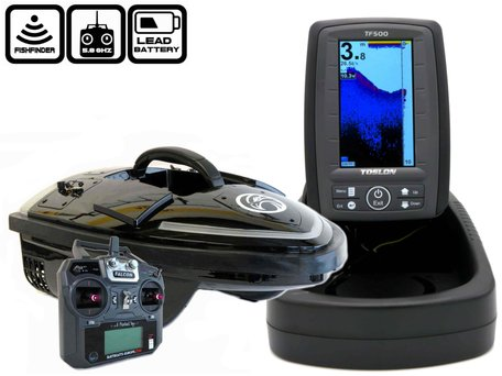 Sight Tackle Falcon Brushless with Toslon TF-500 Fishfinder