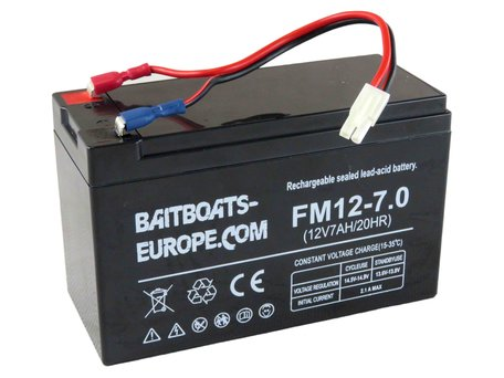 Baitboats-Europe.Com Bait Boat Lead Battery 12volt 7ah