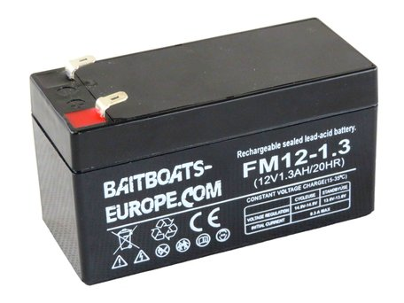 Baitboats-Europe.Com Fishfinder Lead Battery 12volt 1.3ah