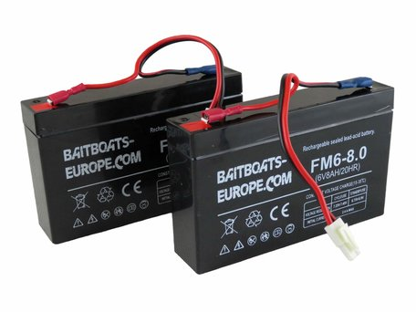 Baitboats-Europe.Com Bait Boat Lead Battery 6volt 8ah