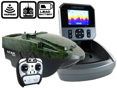 Anatec Pacboat Start'R Evo Camo Ivy with LBT-1 Color Fishfinder