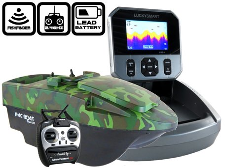 Anatec Pacboat Start'R Evo Forest Camo with LBT-1 Color Fishfinder