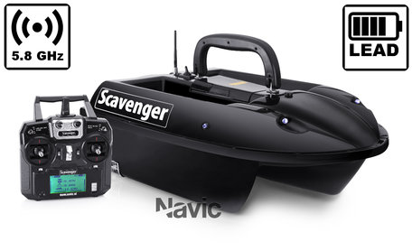 Navic Scavenger Bait Boat with Lead Battery