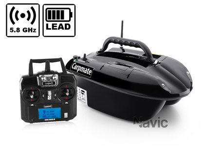 Navic Carpmate baitboat with Lead battery