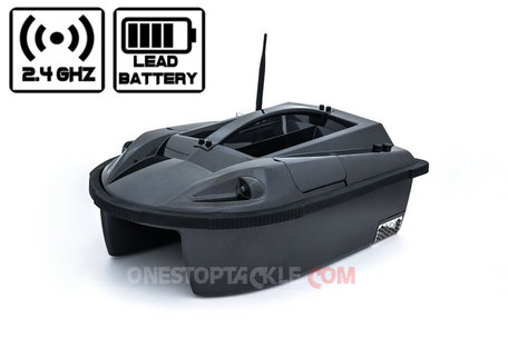 Onestoptackle.com Black Hawk I Bait Boat wit Lead Battery
