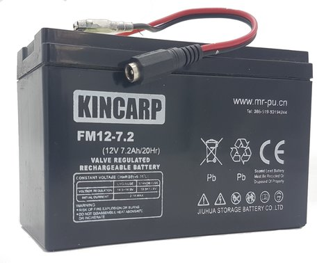 KINCARP Bait Boat Lead Battery 12volt 7.2ah