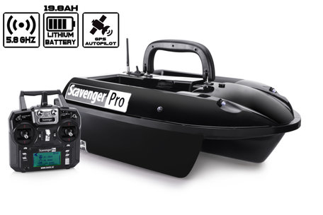 Navic Scavenger PRO Bait Boat with GPS Autopilot and Lithium ION Battery