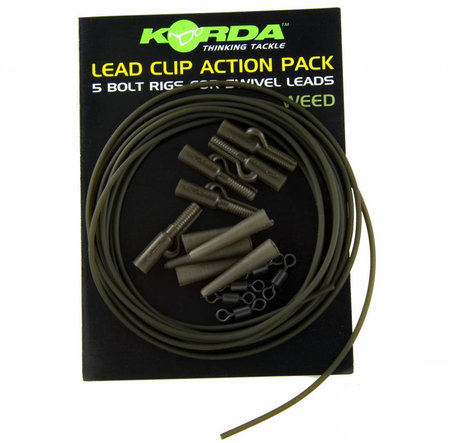 Korda Lead Clip Action Pack Weed (KLCAPW)