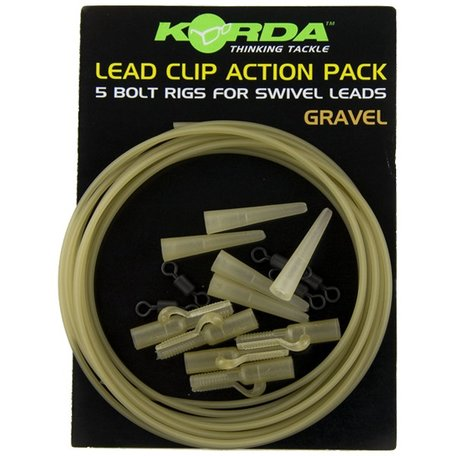 Korda Lead Clip Action Pack Gravel (KLCAPG)