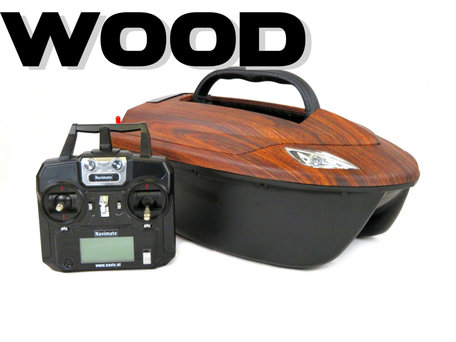 V6 Wood Bait Boat with Lead Battery