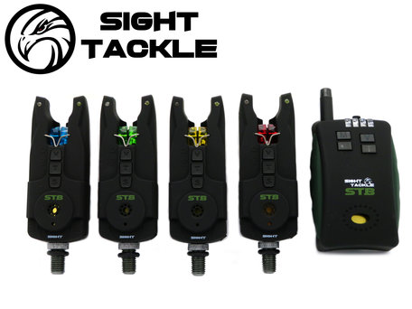 Sight Tackle STB Bite Alarms & Receiver 4+1