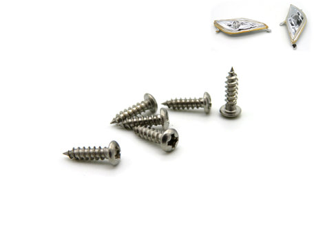 V6 Baitboat LED Frontlight Cover Screws (6 pieces)