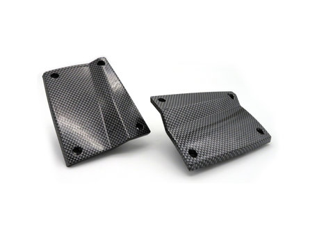 V3 Baitboat Battery Covers Screw Version Carbon (L+R)