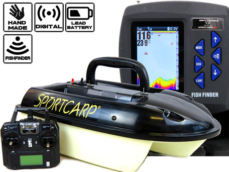 V1 Type Baitboat with Sight Tackle Kleuren Feature Finder