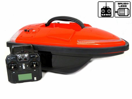 Sight Tackle Falcon Orange Baitboat with GPS Autopilot and Lead Batteries