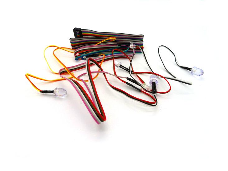 Bait boat wiring loom